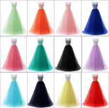New Long Tulle Wedding Evening Formal Party Ball Gowns Prom Bridesmaid Dress V37