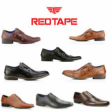 Red Tape Almond Formal Smart Mens Black Brown Tan Lace up Leather Shoes UK 7-12
