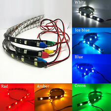 2x Waterproof 30cm Flexible 12 LED Car Strip 12V Daytime Running Footwell lights