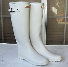 Stunningly Beautiful Sexy & Rare Hunter Limited Refined White Wedding Rain Boots
