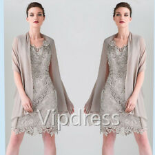 Mother Of The Bride Dresses Lace Appliques Long Sleeve Warps Formal Evening Gown