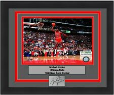 Bulls Michael Jordan 1988 Dunk Contest NBA Basketball Engraved Signature Photo
