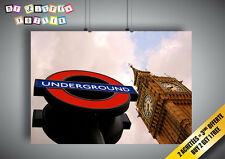 Poster Underground Big Ben London London