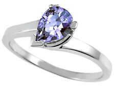 Pear Shape 7x5mm Tanzanite Ring