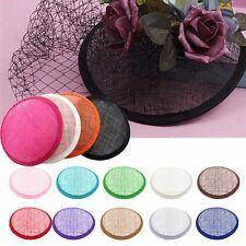 Round Shape Sinamay Base New for Fascinator Party Hat DIY Millinery Craft Making
