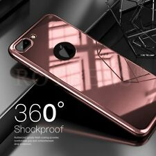 360° Hard Hybrid Ultra thin Case + Tempered Glass Cover For iPhone 6 6S 7 7 Plus