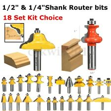 1/4'' 1/2'' Shank Ogee Cutter Router Bit Set Cabinet Wood For Woodworking Tool