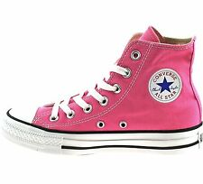 Converse UK 6 & 7 Pink All Star CT Canvas Lace Up Hi Top Sneaker Trainers Boots