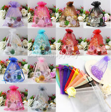 25/50/100Pcs Organza Wedding Favour Xmas Gift Bags Jewellery Candy Pouches 9*7cm