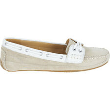 Sebago Bala Womens Footwear Slip Ons - Taupe Suede White Leather All Sizes