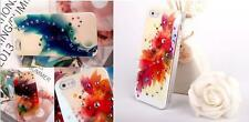NEW 2016 FLORAL DESIGN WITH SWAROVSKI ELEMENTS HARD CASE IPHONE 5 & IPHONE 5s