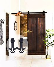 4-16FT Country Style Sliding Barn Wood Door Hardware Closet Track Kit