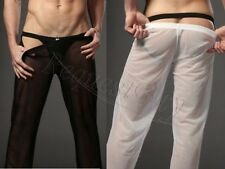 Sexy Men's See-through Mesh Long Johns Thermal Lingerie Underwear Pants Trousers