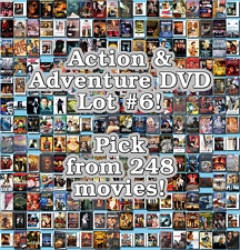 Action & Adventure DVD Lot #6: 248 Movies to Pick From! Buy Multiple And Save!