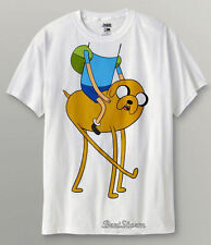 RARE NEW Adventure Time with Finn and Jake Boy Head On Dog T-Shirt Tee Large NEW