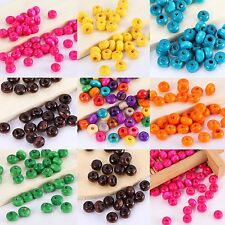 1000PCS  Wood Round Spacer Beads Wholesale Mixed Colors Jewelry Finding 3*4mmNew