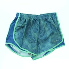 Nike 2559 Athletic Womens Dry Tempo Printed Running Shorts Star Blue Green Glow