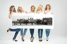 Wall Art Canvas Print Picture Paris Panoramic View-Unframed