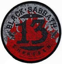 * BLACK SABBATH - 13 CIRCLE LOGO - OFFICIAL SEW-ON BACKPATCH ozzy osbourne patch