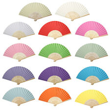 Lovely Handheld Mini Fan Folding Bamboo Chinese Paper Fans Wedding Kids Favours