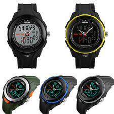 Men Digital Analog Dual Time Alarm Date Chronograph Waterproof Sport Wrist Watch