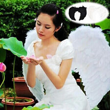 Fashion Feather Wings Angel Fairy Fancy Dress Costume Halloween Party Favor H5
