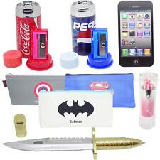 School Accessories Pencil Case Rubber Sharpener Erasers Pens Stationery Notepads