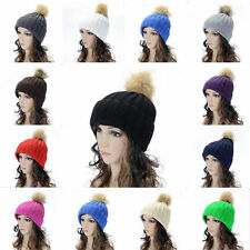 Hot Lady Warm Winter Women Girls Braided Baggy Knit Crochet Beanie Hat Ski Cap