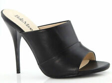 New Black High Heel Slide Mule Stiletto Open Toe Women's Dress Sandals