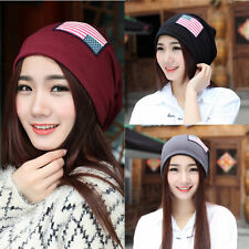 Unisex Womens Men Warm Flag Baggy Beanie Xmas Knit Crochet Ski Hat Cap New 184