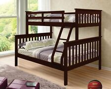 TWIN OVER FULL KID'S BUNK BED - CAPPUCCINO