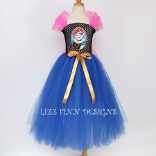 Disney Frozen Princess Anna Long Tutu Dress, Fancy Costume - Lined Top