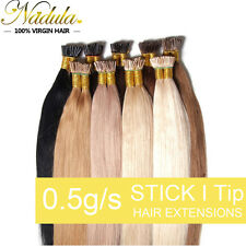 50g 100S Glue Keratin Stick I Tip Remy Real Human Hair Extensions 18'' 20'' 22''