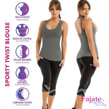 Colombian Sporty Blusa Twist Athletic Outfit Exercise Gym Workout Tank Top Cysm
