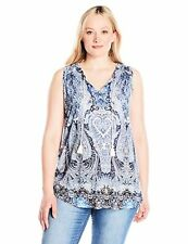 Lucky Brand Women's Plus SZ Paisley Printed Tank Top - Choose SZ/Color