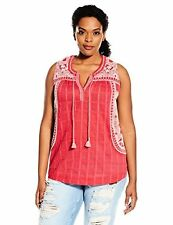 Lucky Brand Women's Plus-SZ Embroidered Sleeveless Blouse - Choose SZ/Color