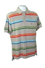 NWT$60 Grey Tommy Hilfiger Mens Polo Shirt Short Sleeve
