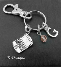 Laptop Bag Charm, Personalised Laptop Keyring