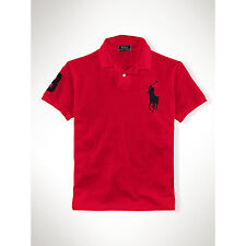 RALPH LAUREN Slim Fit Big pony Logo Polo shirt in Red with Black logo