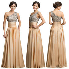 Elegant Wedding Bridesmaid Cocktail PARTY Evening Dress Gown Prom SEQUINS Dress
