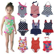 Kid Baby Girl One Piece Summer Swimwear Bikini Swimsuit Swimming Costume Clothes