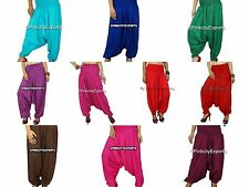 Harem Pants Trousers Alibaba Gypsy Hippie Aladdin Baggy Genie Men Women Hmongss