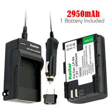 LPE6 Battery & Regular Charger for Canon EOS 5DS, 5DS R, 5D Mark II, 5D Mark III