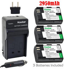 LPE6 Battery & Regular Charger for Canon XC10, EOS 5D Mark II, 5D Mark III, 5DS
