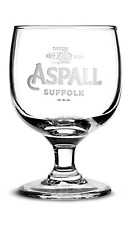 Personalised ASPALL SUFFOLK CIDER Engraved HALF Pint Chalice Glass Birthday