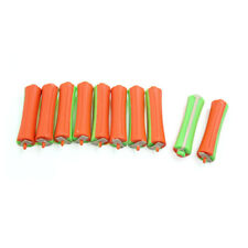10pcs Green Orange Rubber Band Magic Hair Care Curler No-clip Hairstyle Roller