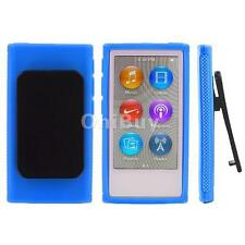 Soft TPU Rubber Case Cover w/ Holster Clip for Apple iPod Nano 7 7th Gen 7G