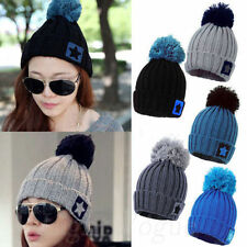 women Lady Cute Star Baggy Warm Beret Beanie Knit Crochet Ski Hat Cap New 0049
