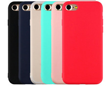 For iPhone 6s/5/5s 7 Ultra Thin Candy Color Soft Matte TPU Back Case Cover New