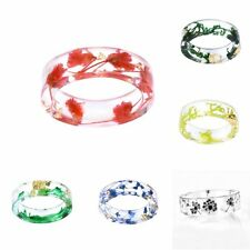 13 styles Fresh DIY Handcraft Dried Flowers Resin Ring gift Wedding Party Hot